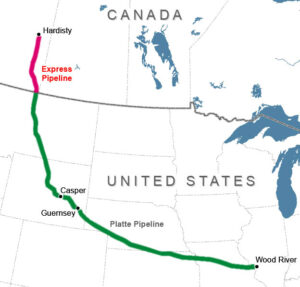 Enbridge pipeline route