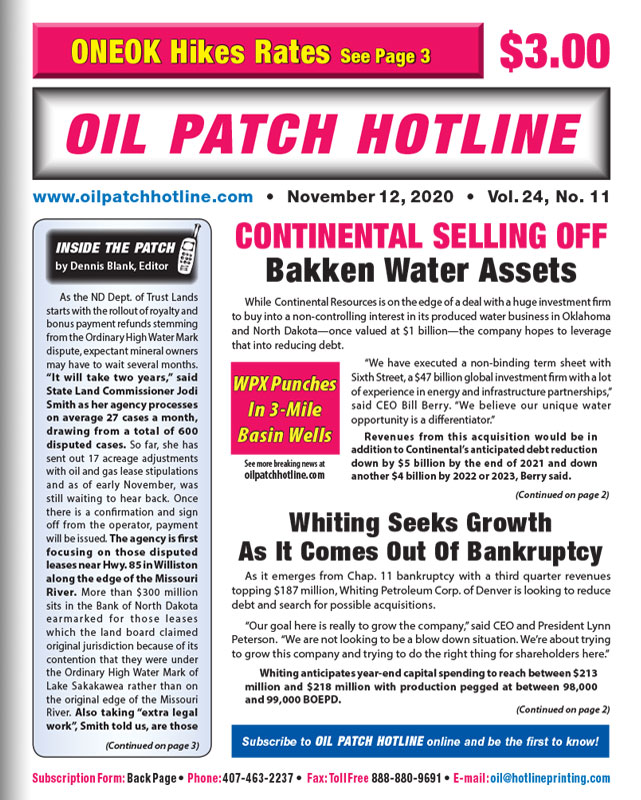 oil patch hotline page 1 november 2020